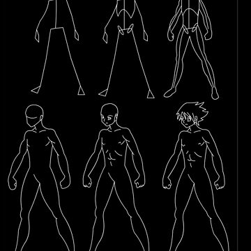 A manga male body evolution (white) by monken8