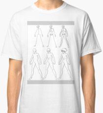 A manga male body evolution (black) Classic T-Shirt