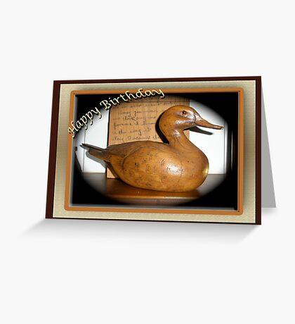 Birthday Card - Wooden Duck Decoy Greeting Card