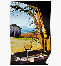 View From the Wine Train Poster