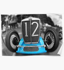 MG TA Tomlinson Special Replica 1937 Poster