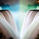 Niagara Falls at Night by Evgenia Attia