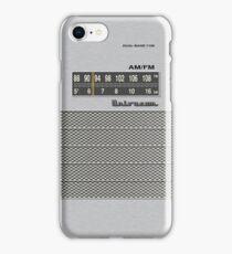 Transistor Radio - 70's Dual Band Silver iPhone Case/Skin