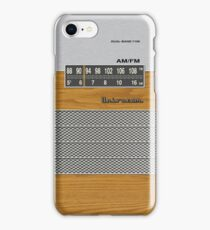 Transistor Radio - 70's Dual Band Woodgrain iPhone Case/Skin