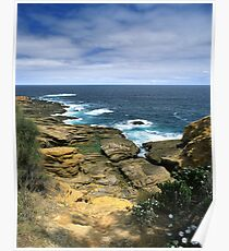 """Where Land Meets Sea"" ∞ Bermagui, NSW - Australia Poster"