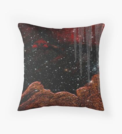 THE ICE PLANET....OUT THERE SOMEWHERE Throw Pillow