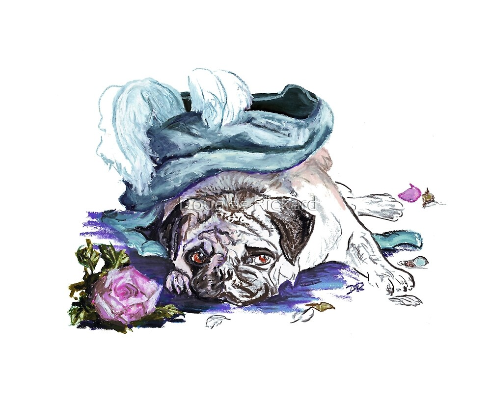 The Marie Antoinette Pug by Douglas Rickard
