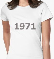 DOB - 1971 Women's Fitted T-Shirt