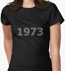 DOB - 1973 Women's Fitted T-Shirt