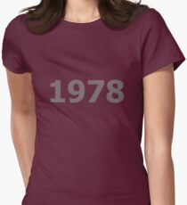 DOB - 1978 Women's Fitted T-Shirt