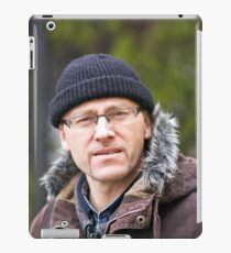 Portrait of man in light of the natural iPad Case/Skin