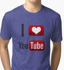 I Heart Youtube! Tri-blend T-Shirt