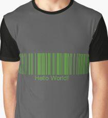 Hello World! Barcode Graphic T-Shirt