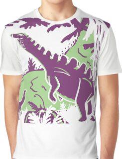Long Necks - Green and Purple Graphic T-Shirt