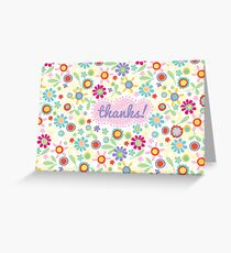 fresh flowers thank you card Greeting Card