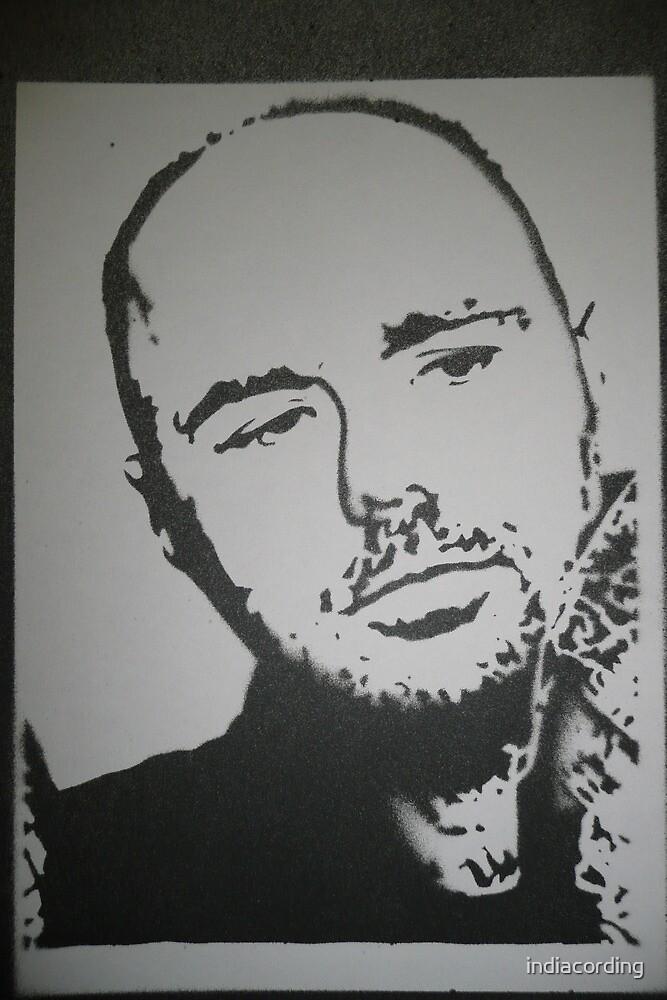 Karl Pilkington: An Idiot Abroad stencil by indiacording