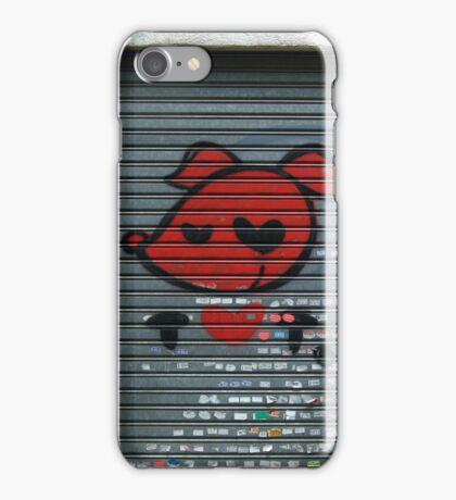 red pooch, heart graffiti iPhone Case/Skin