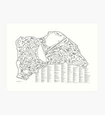 Race Tracks to Scale - Listed and Labelled Art Print