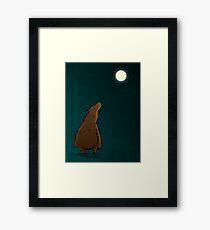 Bear (Moon) Framed Print
