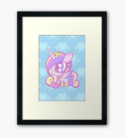 Weeny My Little Pony- Princess Cadence Framed Print