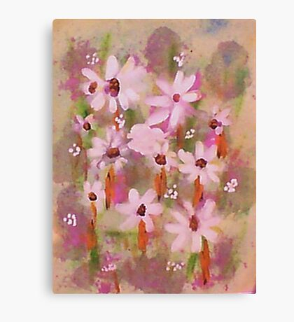 Field of Daisies series #2, watercolor Canvas Print