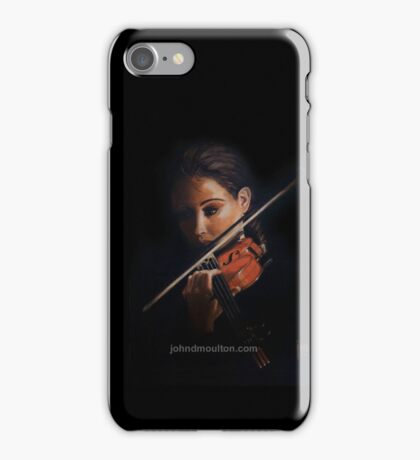 """""""Violin"""" Oil on Canvas iPhone Case/Skin"""