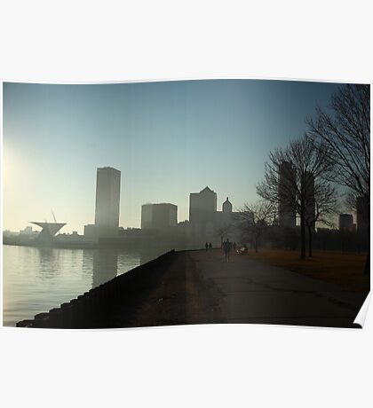Milwaukee a city with a Harbor Poster