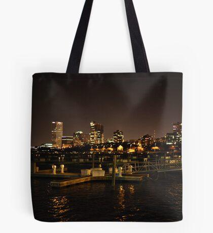 Milwaukee Night Skyline Tote Bag