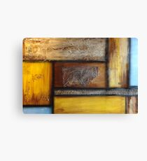 Browns and Blue Canvas Print
