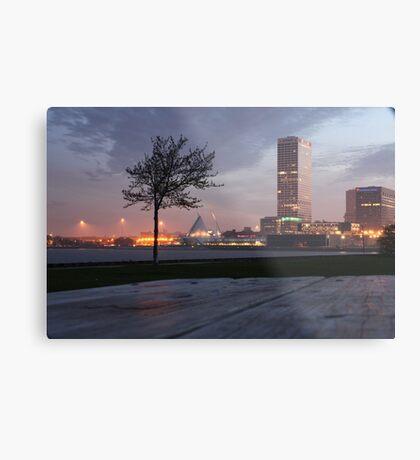 Milwaukee Night Cityscape Metal Print