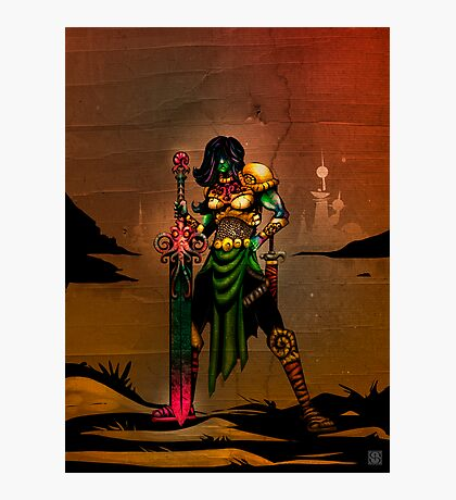 This is Pulp - The Atlantean Princess Photographic Print
