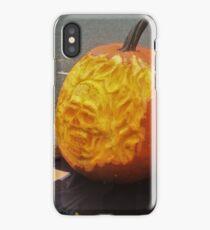 Flaming Skull 3D Pumpkin Carve iPhone Case/Skin
