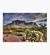 An Evening at the Superstitions  Photographic Print