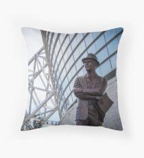 Tom Landry Statue at Cowboys Stadium Throw Pillow