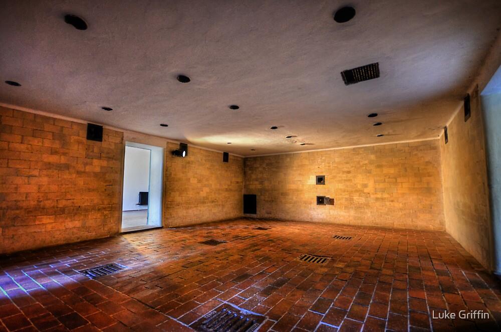 Brausbad - Gas Chamber, Daschau Concentration Camp by Luke Griffin
