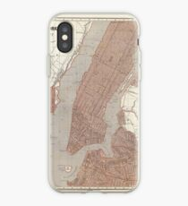 Vinilo o funda para iPhone Vintage Map of New York City (1845) 2