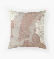 Cojín Vintage Map of New York City (1845) 2