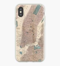Vinilo o funda para iPhone Vintage Map of New York City (1867)