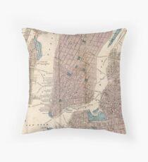 Cojín Vintage Map of New York City (1867)