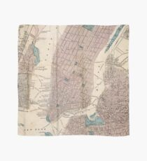 Pañuelo Vintage Map of New York City (1867)