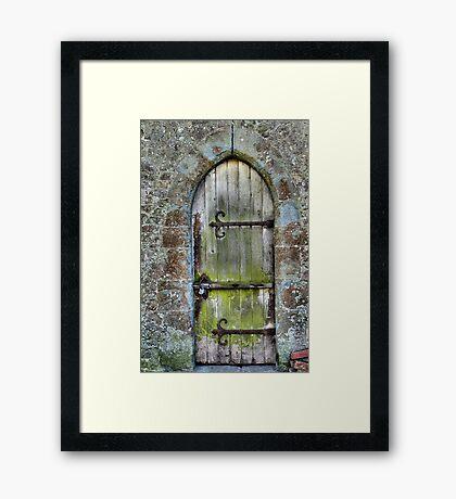 The Locked Door Framed Print