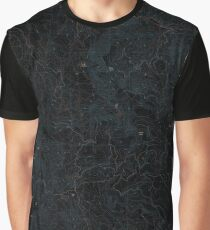 USGS Topo Map Oregon Grizzly Peak 20110812 TM Inverted Graphic T-Shirt