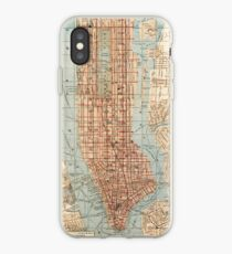 Vinilo o funda para iPhone Vintage Map of New York City (1894)
