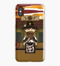 Cute Cowboy Sheriff at Jailhouse iPhone Case/Skin