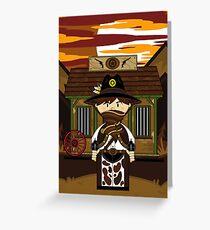 Cute Cowboy Sheriff at Jailhouse Greeting Card