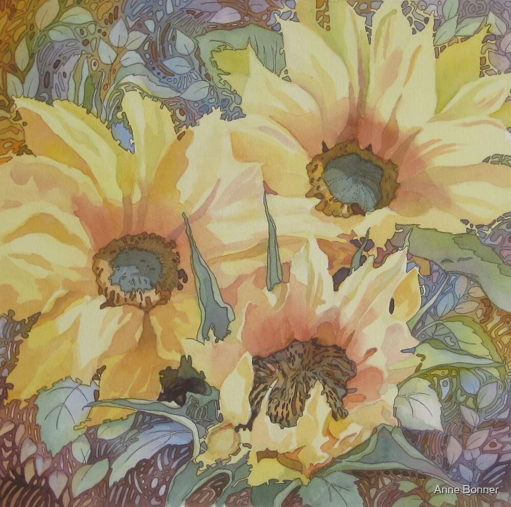 Summer Sunflowers by Anne Bonner