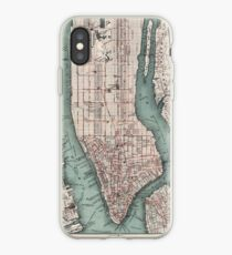 Vinilo o funda para iPhone Mapa vintage de la ciudad de Nueva York (1897)