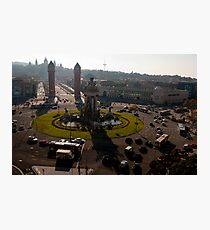 Placa Espana Photographic Print