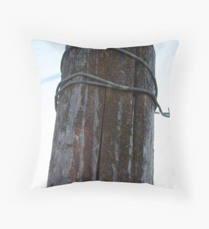 Barbwire Throw Pillow