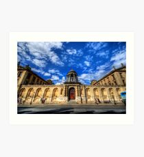 Queens College - Oxford, England Art Print